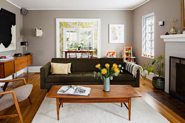 Portland Modern Tudor Living Room Contemporary Living Room
