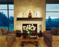 Portola Valley Residence contemporary living room