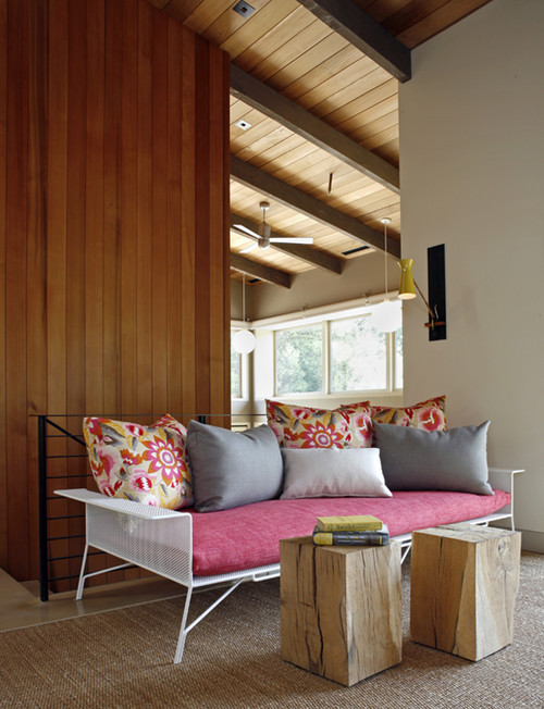 Portola Valley contemporary living room