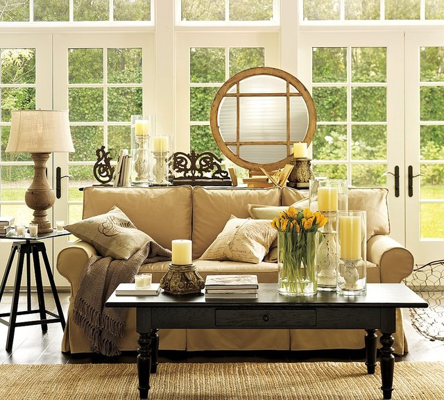 Pottery Barn Living Room   Traditional   Living Room   Other ...