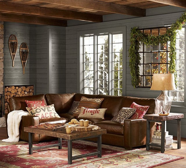 Pottery Barn : rustic living room from www.houzz.com size 640 x 576 jpeg 140kB