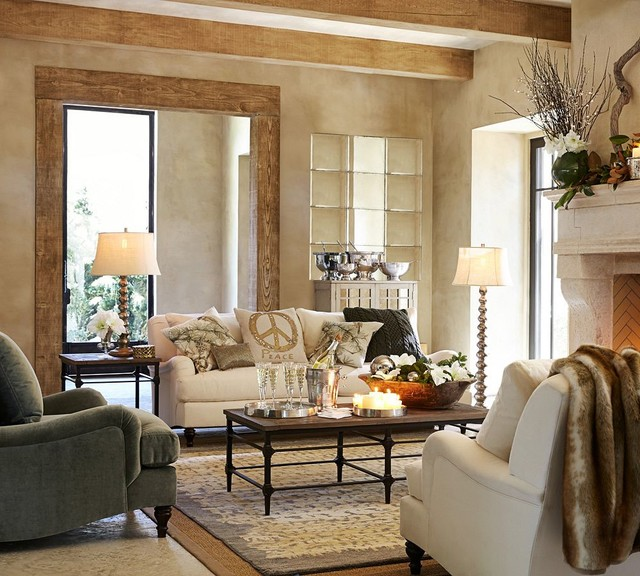 pottery barn traditional living room