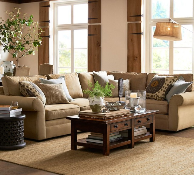 Pottery Barn : traditional living room from www.houzz.com size 640 x 576 jpeg 105kB