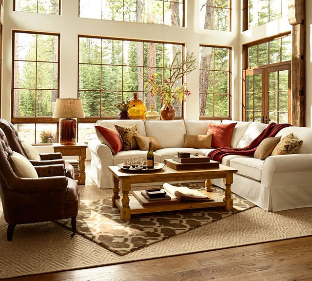 Pottery barn for Pottery barn style living room ideas