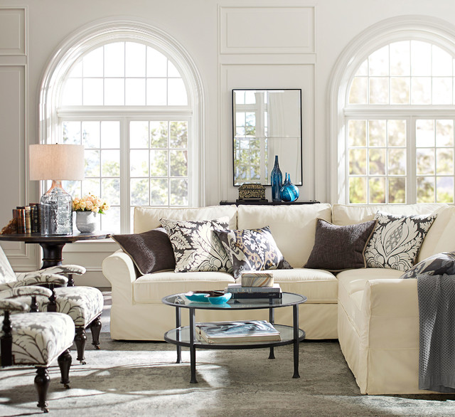 pottery barn contemporary living room