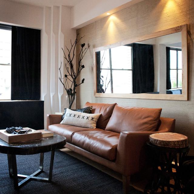 Contemporary Living Room Design Houzz: Potts Point 1 Bedroom Contemporary-living-room