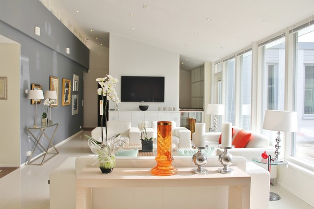 PP Interiordesign company designed house from 70`s to 2012 level contemporary-living-room