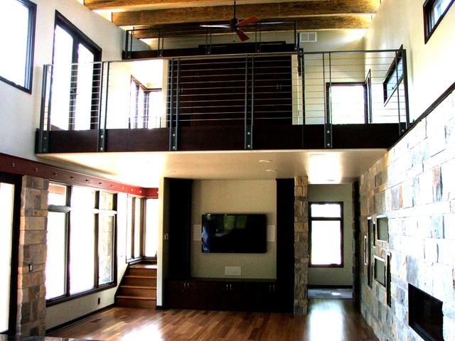 Prairie Residence - Kingman contemporary-living-room