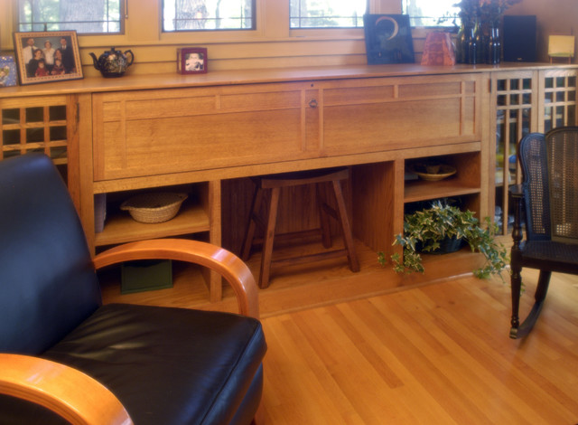 Prairie Style - Whole House Remodel craftsman-living-room