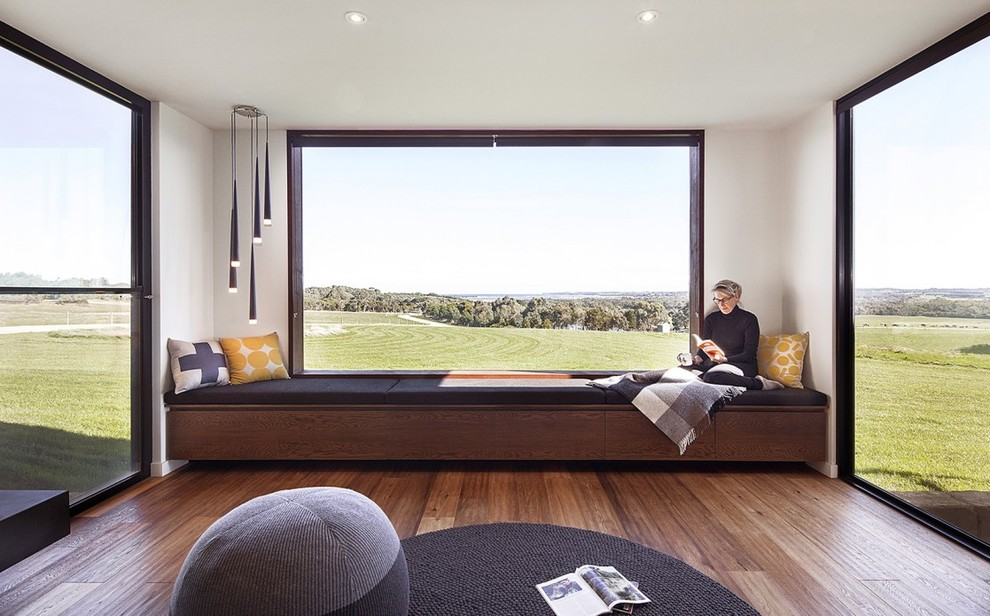 Example of a minimalist living room design in Melbourne