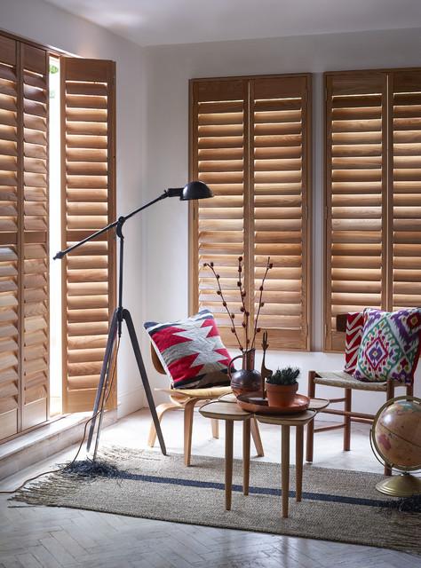premium elmwood natural wood shutters rustic living