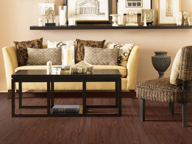 Prequel Chocolate Oak Traditional Living Room Los