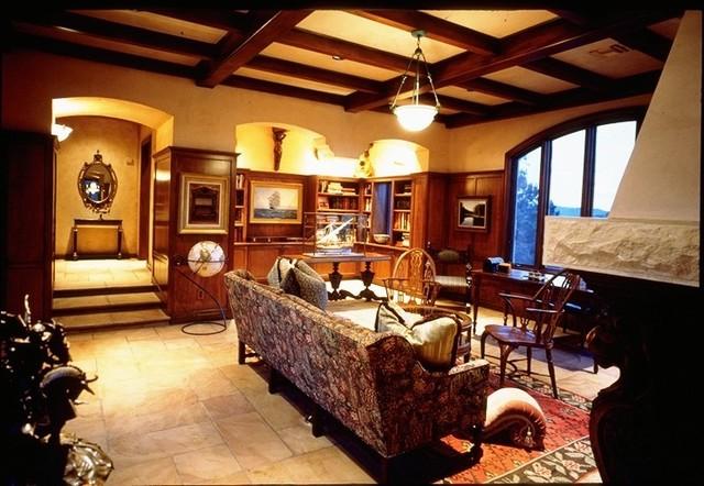 Preserve Custom Home mediterranean-living-room