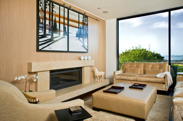 Good Trendy Living Room Photo In San Francisco With Beige Walls