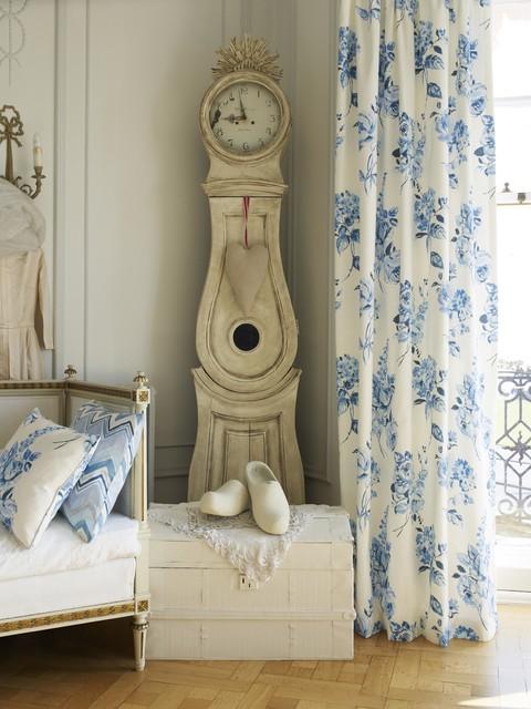 Prestigious Cinder Rose Lulworth Blue Curtain Contemporary Living Room