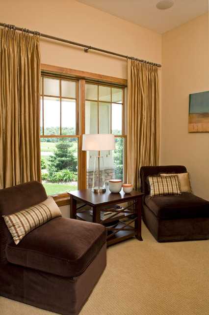 Prior lake window treatments traditional living room for Traditional window treatments living room