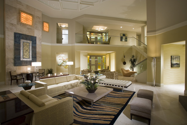 private penthouse residence contemporary-living-room