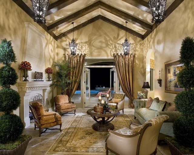 Private Residence A   Windermere, Florida Mediterranean Living Room