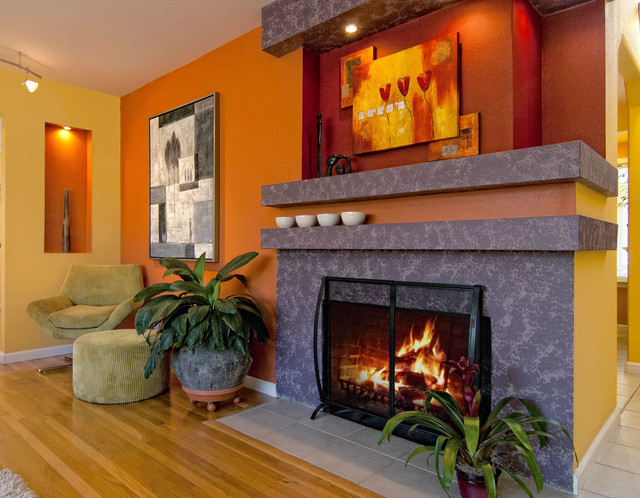 Red And Yellow Color Scheme | Houzz