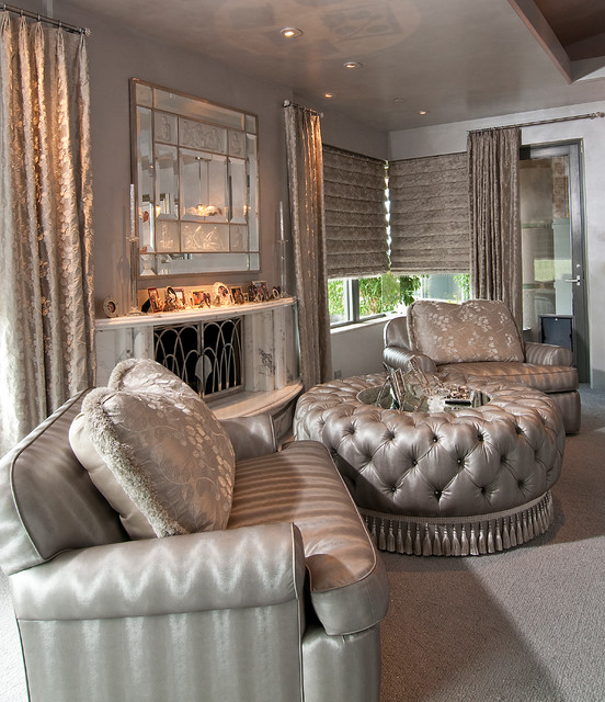 """Private Residence - """"At Home with Hollywood"""" traditional-living-room"""