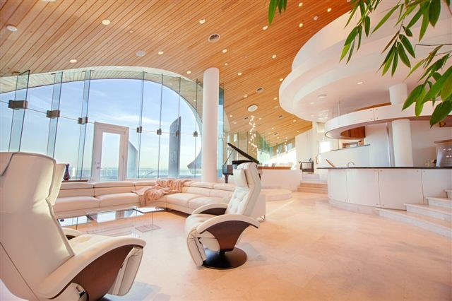 Private residence, beach front Florida contemporary-living-room
