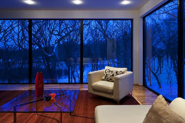 Living room - modern open concept living room idea in Minneapolis