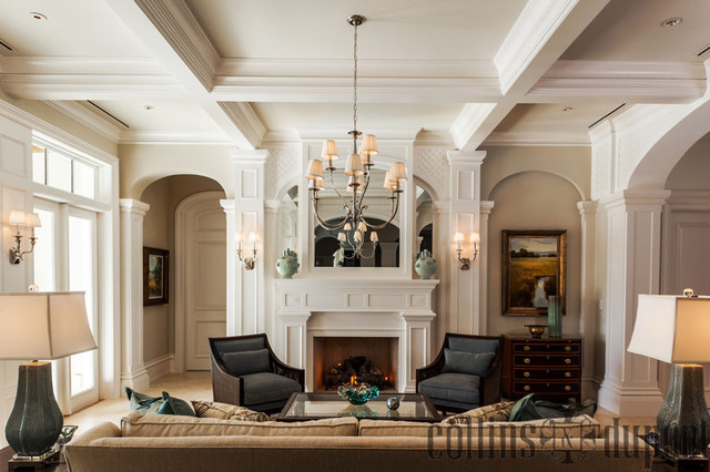 Private Residence in Port Royal traditional-living-room