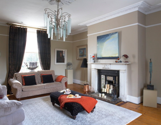 Private residence in rathgar traditional living room for Living room dublin