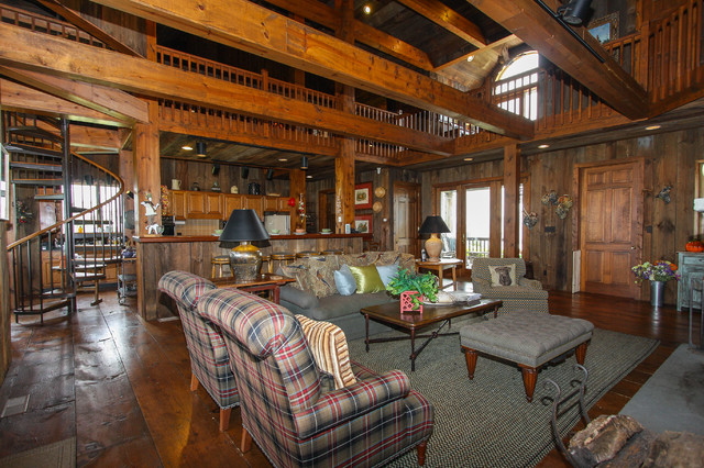 Private Residence Interiors rustic-living-room