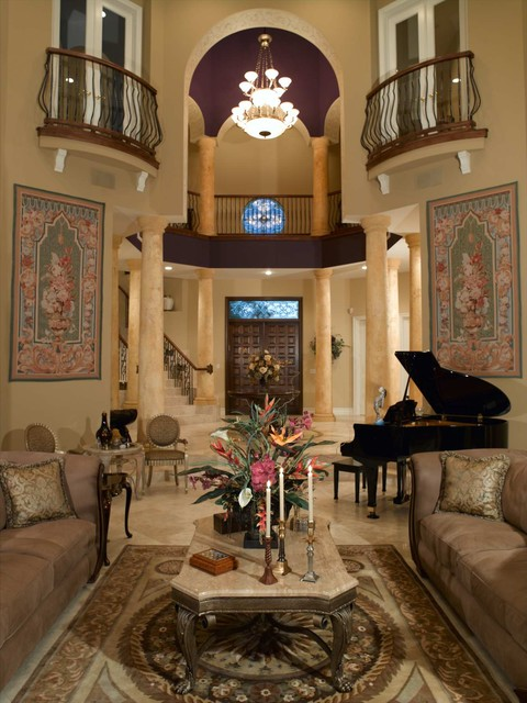 Private residence mediterranean living room