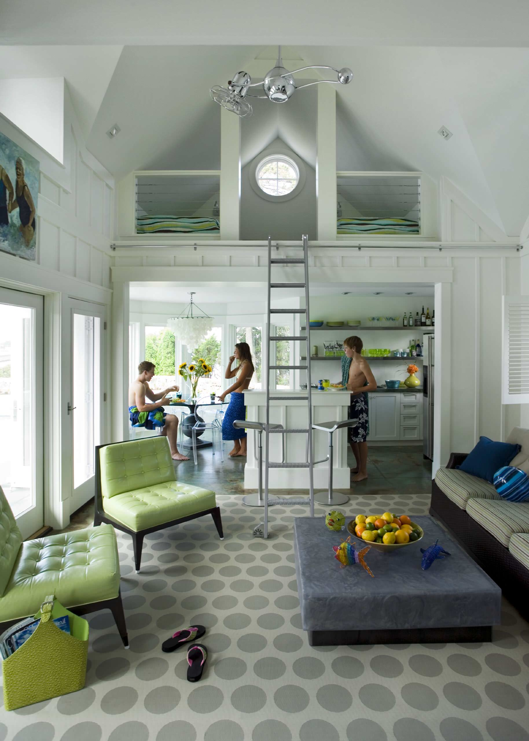 Navy Blue Lime Green Accents Living Room Ideas Photos Houzz