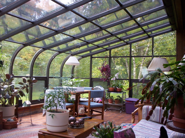 Project 8: Curved Eave Sunroom Craftsman Living Room