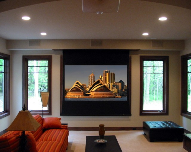 Projector Contemporary Living Room
