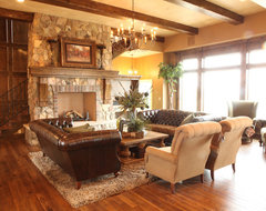 Projects using Buechel Stone traditional-living-room
