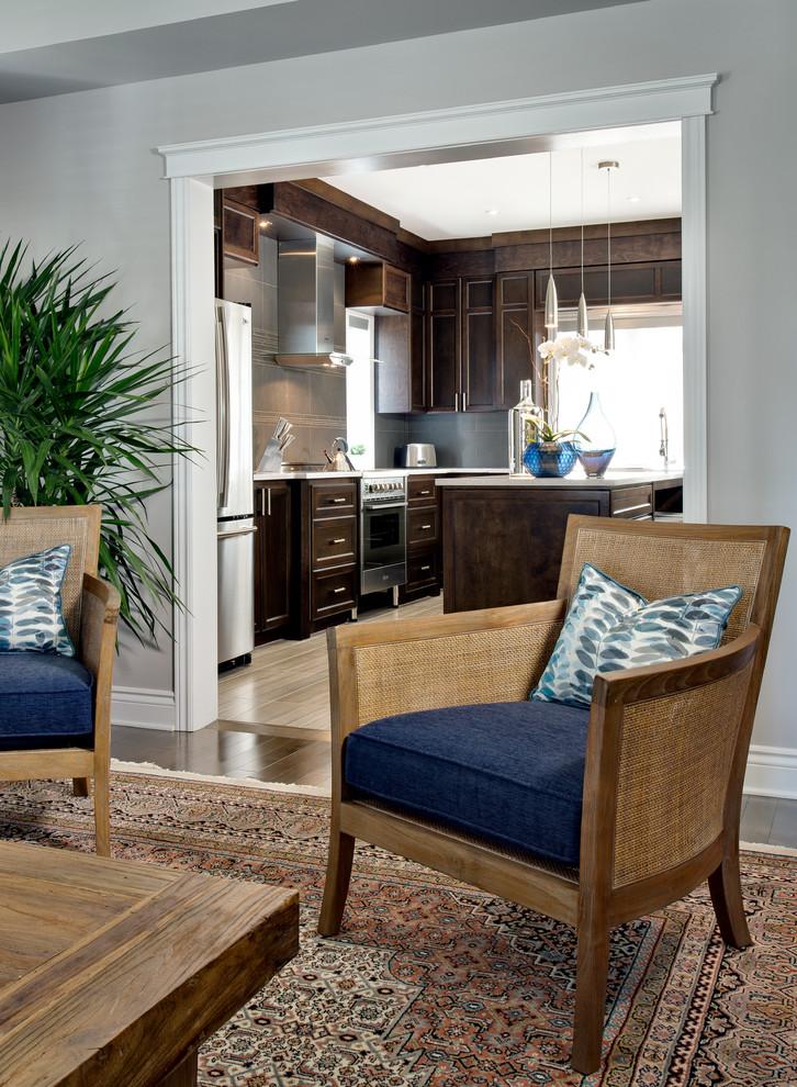 projet maison carignan  transitional  living room