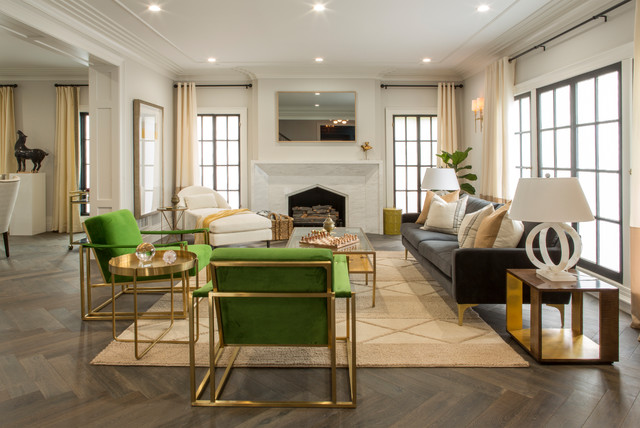 Property Brothers At Home Drew S Honeymoon Housetransitional Living Room Los Angeles
