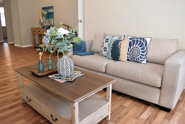Property styling to Warnbro - Relaxed Hamptons style. - Living Room ...