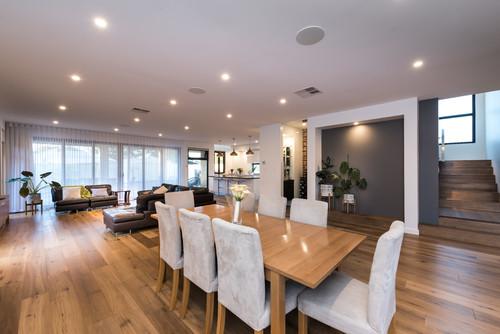 preference prestige oak floor on a dining room floor