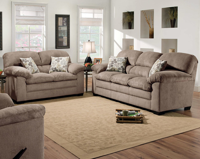 Puff Musk Sofa And Loveseat Traditional Living Room