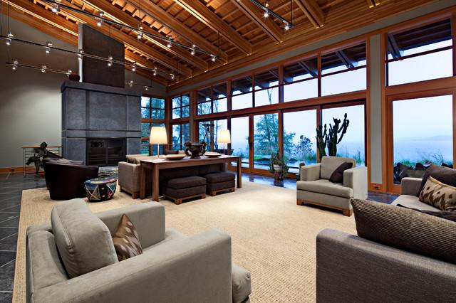 Puget Sound artist's home contemporary-living-room