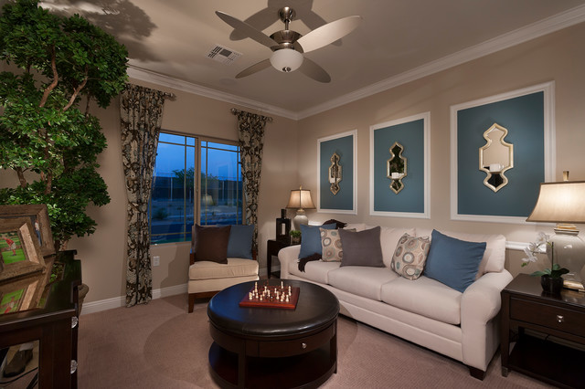Pulte homes celebration model home vail arizona for Model living room ideas