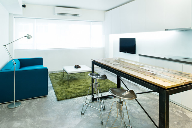 Puzzle Box Industrial Living Room Hong Kong By Urban Design amp Build Limited