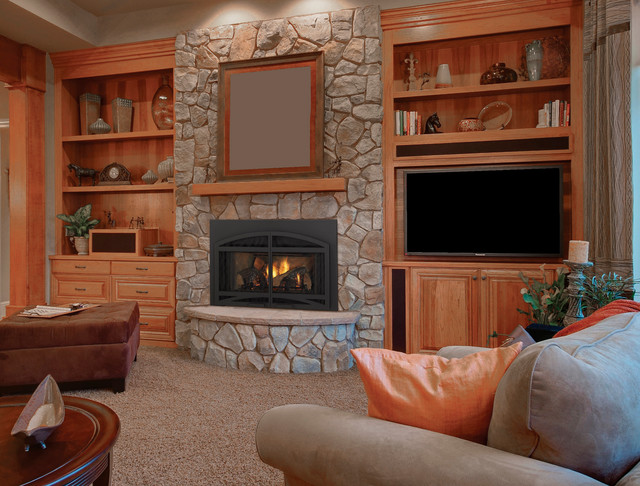Quadra Fire Qfi30 Gas Insert Traditional Living Room