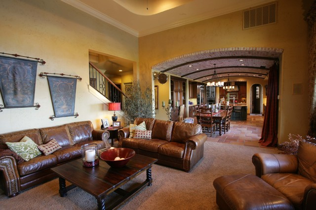 Quail Lake mediterranean living room