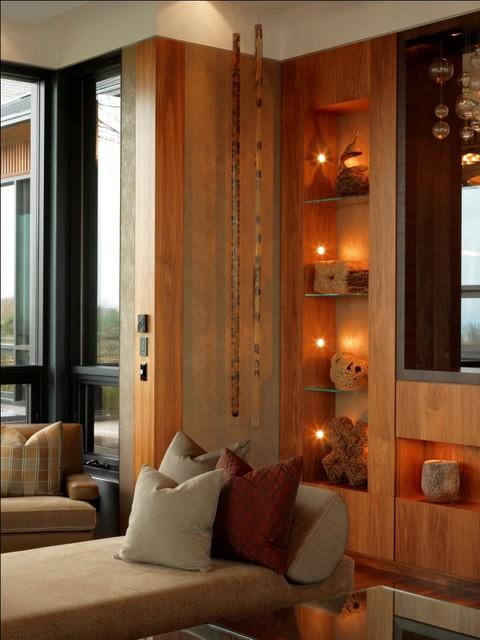 Quaker Bluff Residence rustic-living-room