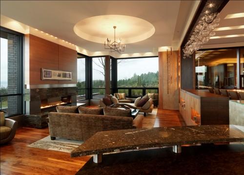 Quaker Bluff Residence contemporary living room