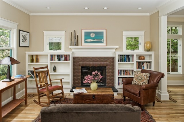 Superbe Queen Anne Four Square   Craftsman   Living Room   Seattle ...