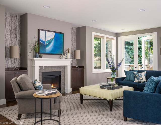 Queen Anne Home - Transitional - Living Room - Seattle - by ...