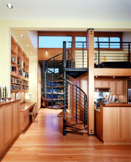 Queen Anne Loft modern-living-room