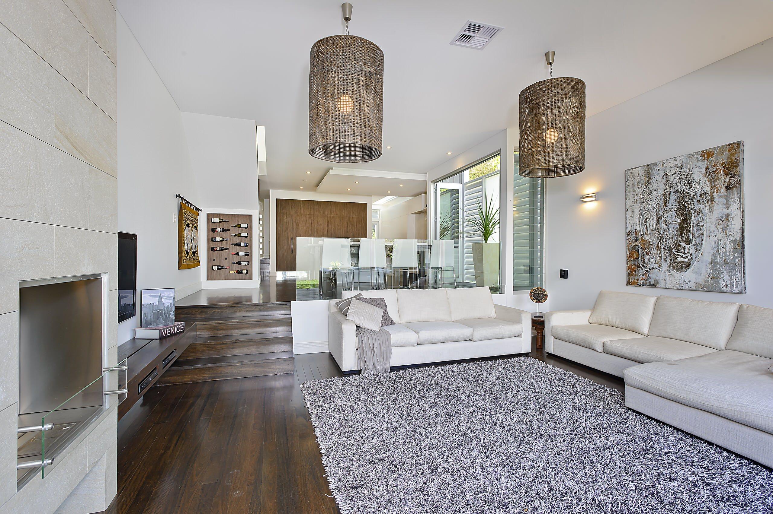 Dark Floor And Light Walls Living Room Ideas Photos Houzz